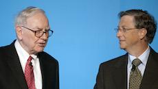 Bill Gates And Warren Buffett Hold News Conference On Philanthropy