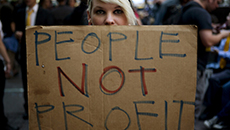 Protestors Mark Anniversary Of Occupy Wall Street Movements