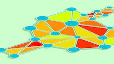 Plug polygon colorful